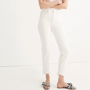 Madewell white summer vintage jeans